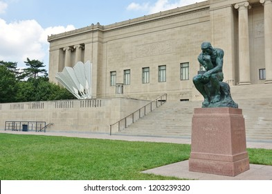 KANSAS CITY, MO -17 AUG 2018- View of the Nelson-Atkins Museum of Art located in Kansas City, Missouri.