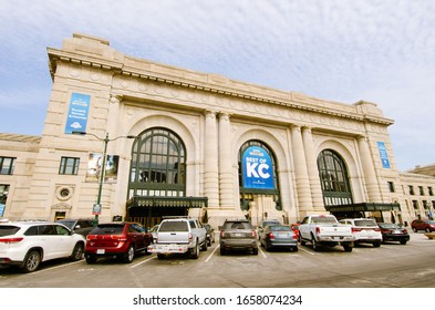 Kansas City, MO - 3/2/19: Union Station historical building exterior; Best of KC winner side view