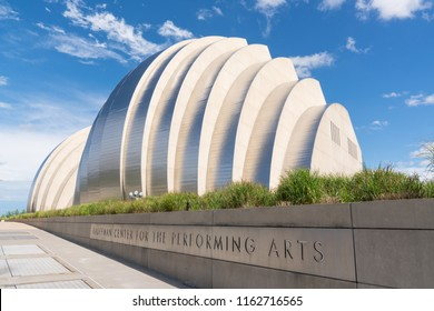 KANSAS CITY, MO - JUNE 20, 2018: Kauffman Center for the Performing Arts in Kansas City was completed in 2011 and is home to the Kansas City Symphony