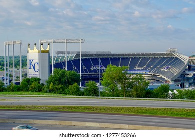 Kansas City, MO/ USA - June 2017: Kansas City Royals Stadium