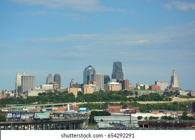 KANSAS CITY, MO, USA - May 31, 2017: Kansas City, Missouri is the sixth largest metropolitan area in the midwest and is a manufacturing, agricultural, and international trade hub.