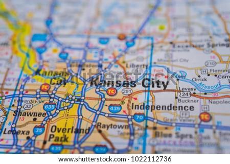 Kansas City On USA Map Stock Photo (Edit Now) 1022112736 - Shutterstock
