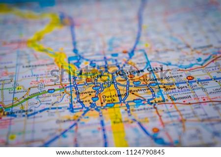Kansas City On USA Map Stock Photo (Edit Now) 1124790845 - Shutterstock