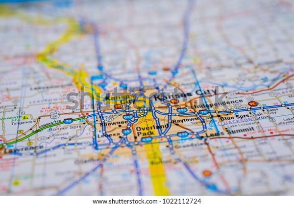 Kansas City On Usa Map Stock Photo (Edit Now) 1022112724