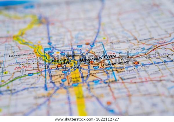 Kansas City On Usa Map Stock Photo (Edit Now) 1022112727