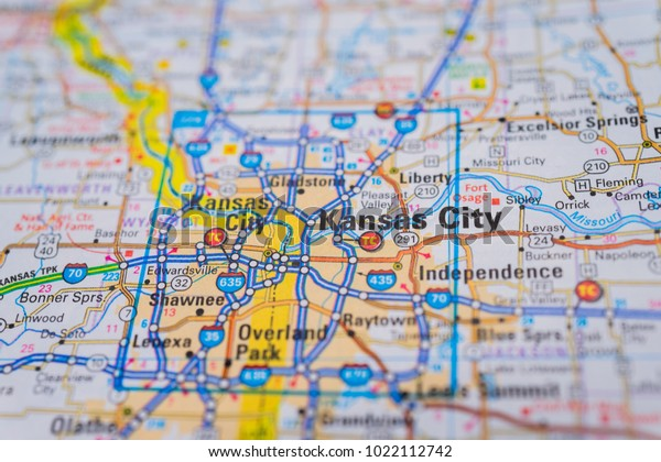 Kansas City On Usa Map Stock Photo (Edit Now) 1022112742