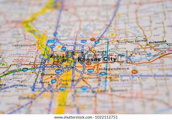 Kansas City On Usa Map Stock Photo (Edit Now) 1022112751