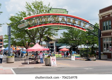 KANSAS CITY KANSAS, UNITED STATES OF AMERICA - August 2017: The Historic Kansas City Farmers Market. The Market is a Major Tourist Attraction
