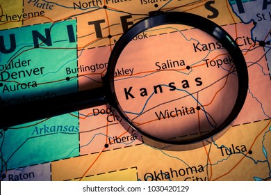 Kansas map background