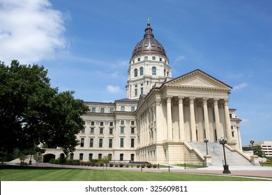 Kansas State Capitol located in Topeka, Kansas, USA.