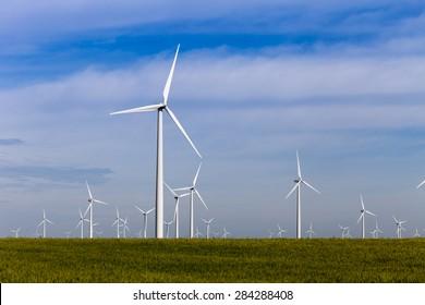 Kansas Wind Farm Landscape