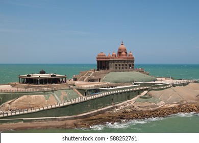 KANYAKUMARI, INDIA - March 29, 2014: Vivekananda Rock Memorial in Kanyakumari, Tamil Nadu, India