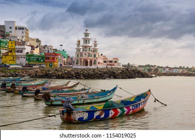 Kanyakumari,Tamil Nadu, India  - August 8, 2018 : City view of Kanyakumari, India