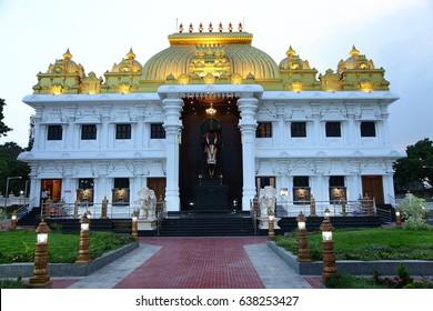 KANYAKUMARI-TAMILNADU-INDIA-MAY-10-2017.- Ramayana Darshanam Bharatmala Sadanam known as Hanuman  temple at kanyakumari MAY-10 -2017-KANYAKUMARI-TAMILNADU-INDIA