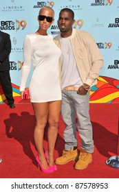 Kanye West & Amber Rose at the 2009 BET Awards (Black Entertainment Television) at the Shrine Auditorium. June 28, 2009  Los Angeles, CA Picture: Paul Smith / Featureflash