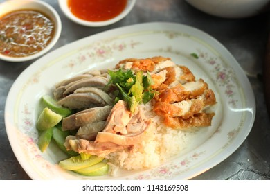 kao mun kai is oily rice and Chicken  the dish's popularity in thailand