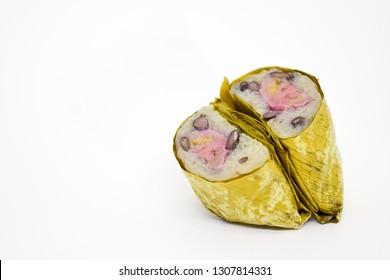 Kao Tom Mud, Thai Sweets bunch of mush, banana filling