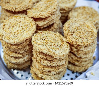 Kao Tung ,crisp rice sheets eaten baked is Thailand sweets.