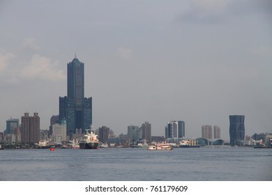 Kaohsiung City, Taiwan - August 08, 2017: The famous Kaohsiung landmark, 85 sky Tower. It is the highest building in Kaohsiung City as well as the second high building in Taiwan.