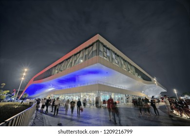 Kaohsiung City, Taiwan - October 13th, 2018:National Kaohsiung Center for the Arts (Weiwuying) is the first national theater located in southern Taiwan.