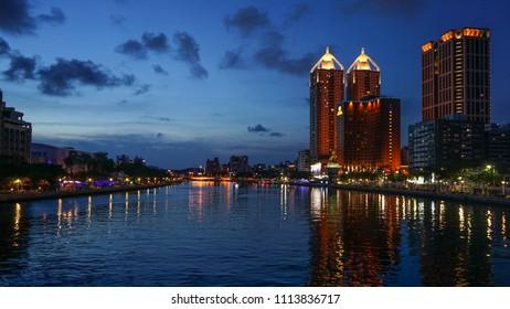 Kaohsiung Love river At night