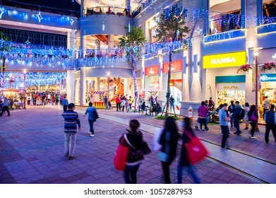 KAOHSIUNG - TAIWAN, 3 JANUARY 2017:Taiwan has many large department stores, a lot of people will come to this holiday shopping to buy things to spend a day off, 3 JANUARY 2017 in KAOHSIUNG ,Taiwan