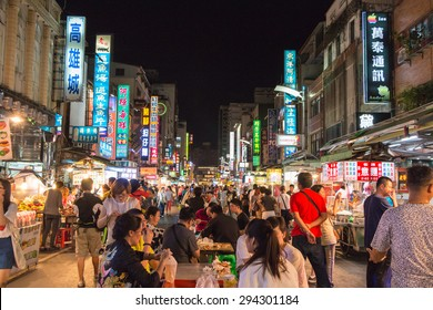 KAOHSIUNG, TAIWAN - APR 20 : Taiwan's unique culture, night bazaar attracts many young people to this city, which has become one of Taiwan's culture, on 20 April 2015 in Kaohsiung.