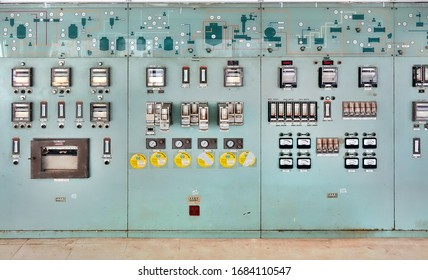 KAOHSIUNG, TAIWAN -- AUGUST 19, 2017: Abandoned switchboard and control room in the former Chiaotou Sugar Refinery.