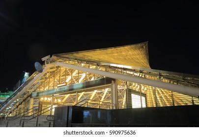 KAOHSIUNG TAIWAN - DECEMBER 13, 2016: Contemporary Formosa Boulevard subway station.