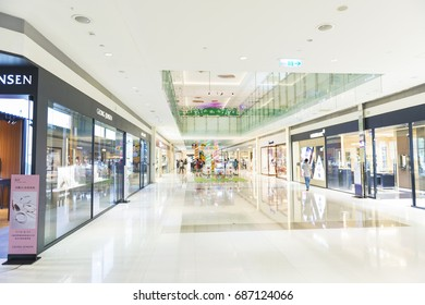 Kaohsiung Taiwan - December 14, 2016: People visit Dream Mall in Kaohsiung Taiwan. Dream Mall is the largest shopping mall in Taiwan and the largest in East Asia.