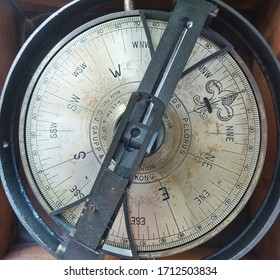 KAOHSIUNG, TAIWAN, -- DECEMBER 22, 2018: An vintage compass rose at the old lighthouse on Chijin Island.