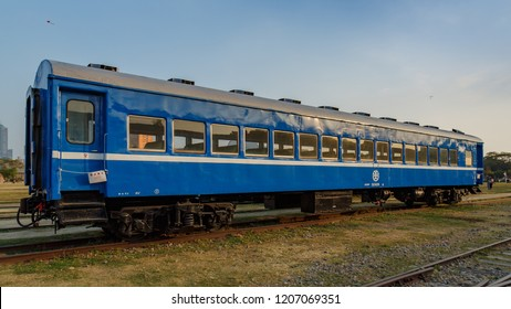 Kaohsiung, Taiwan - December 29 2016: Taiwan Railway Administration coach 35SP32426 of Takao Railway Museum.