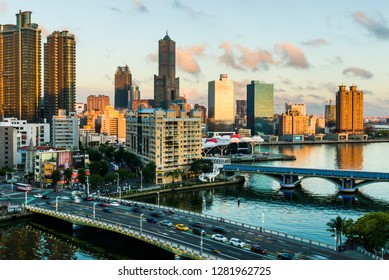 KAOHSIUNG, TAIWAN, JUNE 01 2018: Southern located in Taiwan, is a port city, has developed rapidly in recent years, many foreign visitors have come to Kaohsiung.
