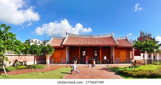 KAOHSIUNG, TAIWAN -- JUNE 10 , 2017: The Fongyi Imperial Tutorial Academy, originally built in 1814 during the Qing Dynasty and recently restored and reopened to the public.