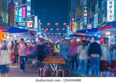 Kaohsiung, Taiwan - Mar 22, 2019 : Liou He Night Market, one of the most famous night markets in Kaohsiung City, Taiwan