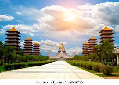 KAOHSIUNG, TAIWAN - March 1 2018: At this temple Fo Guang Shan Buddha Museum.