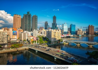 KAOHSIUNG, TAIWAN - MAY 04 2018: View of downtown Kaohsiung financial district on May 04, 2018 in Kaohsiung