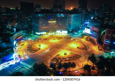 KAOHSIUNG, TAIWAN - MAY 04 2018: View of  Kaohsiung city on May 04, 2018 in Kaohsiung