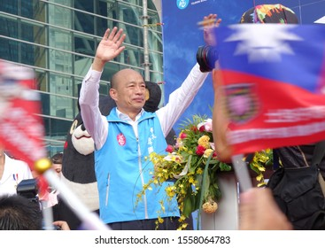 KAOHSIUNG, TAIWAN -- OCTOBER 10, 2019: Kaohsiung mayor and KMT presidential candidate Han Kuo-yu at the national day celebrations, a free and public event.