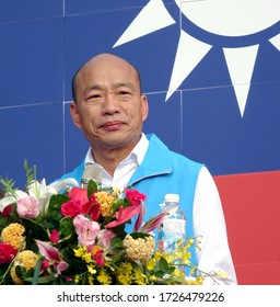 KAOHSIUNG, TAIWAN -- OCTOBER 10, 2019: Kaohsiung mayor and KMT presidential candidate Han Kuo-yu speaks at the national day celebrations, a free and public event. No credentials necessary.
