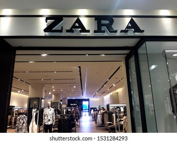 Kaohsiung, Taiwan, October 15, 2019: Zara store. Zara is a Spanish clothing and accessories retailer based in Arteixo, Galicia, founded in 1975 by Amancio Ortega and Rosalia Mera.