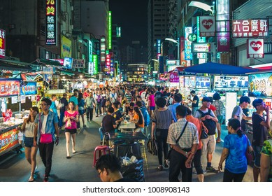 Kaohsiung, Taiwan - Septermber 3, 2016: Kaohsiung City Liou He Night Market, one of the most famous night markets in Taiwan