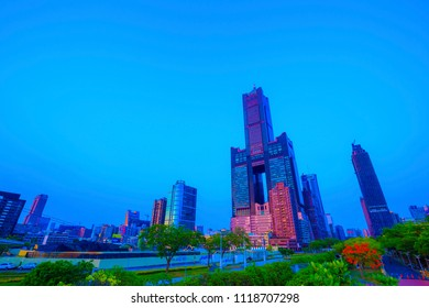 kaohsiung,taiwan - May 11,2018 : 85 Sky Tower, formerly known as the T & C Tower or Tuntex Sky Tower is located in Lingya District, Kaohsiung, Taiwan.