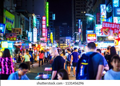 kaohsiung,taiwan - May 11,2018 : The Liuhe Night Market is a tourist night market in Xinxing District, Kaohsiung, Taiwan. It is one of the most popular markets in Taiwan