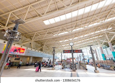 kaohsiung,taiwan - May 11,2018 : Taiwan High Speed Rail is a high-speed rail line that runs approximately 349.5 km, along the west coast of Taiwan.