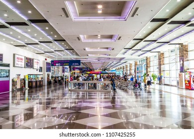 Kaohsiung,taiwan - May 12,2018 : Kaohsiung International Airport is a medium-sized commercial airport in Kaohsiung City, Taiwan. Kaohsiung International is the second busiest Taiwanese airport.
