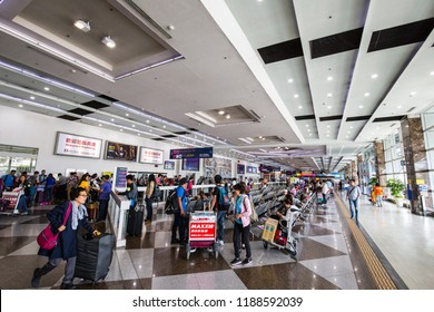 Kaohsiung,taiwan - May 9,2018 : Kaohsiung International Airport is a medium-sized commercial airport in Kaohsiung City, Taiwan. Kaohsiung International is the second busiest Taiwanese airport.