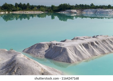 Kaolin lake at  Tanjung Pandan, Biltung, Indonesia