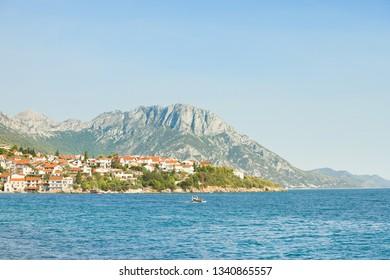 Kapec, Dalmatia, Croatia, Europe - Viewpoint lookout upon the beautiful coast of Kapec