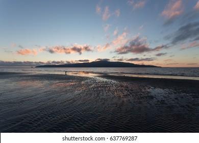 Kapiti Coast Beach view at Sunset